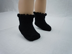 Black Knit Knee-High Socks by BFF Doll Company