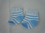 Blue and White Striped Socks by BFF Doll Company