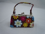 Brown Flower Power Print Purse by BFF Doll Company