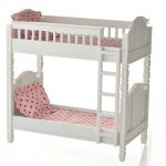 Bunk Bed with Peach Linens