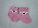 Pink Socks w/ White Dogs  by BFF Doll Company