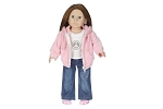 Classic Jeans,Hoddie, and Peace Shirt by BFF Doll Company