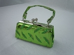 Green Umbrella Print Purse by BFF Doll Company