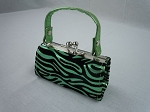 Green Zebra Print Purse by BFF Doll Company