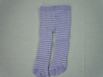 Lavender tights with white stripes by BFF Doll Company