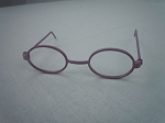 Purple Oval Frame Glasses
