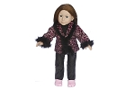 Pink Leppard Coat with Jeans by BFF Doll Company