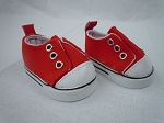 Red Laceless Sneakers by BFF Doll Company.