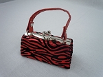 Red Zebra Print Purse by BFF Doll Company