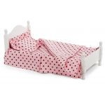 Single Bed (Victorian Style) with Peach Dot Linens