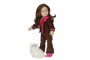 Brown Exercise Suit by BFF Doll Company