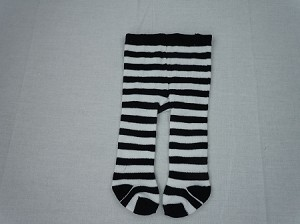 Black and White Stripe Tights by BFF Doll Company