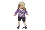 Soccer Uniform with Shoes and Ball by BFF Doll Company