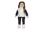 White Winter Vest with Black Top and Bottm by BFF Doll Company